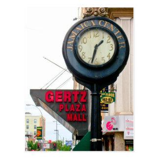 Postal de centro del reloj del arrabio de Jamaica