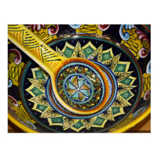 Postal de cerámica italiana del cuenco