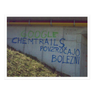 Postal de Chemtrails Polonia de la investigación