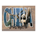 Postal de Chengdu, China