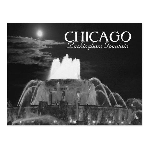 Postal de Chicago de la fuente de Buckingham