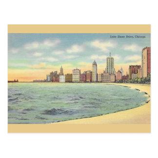 Postal de Chicago de la impulsión de la orilla del