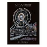Postal de Chicago del embarcadero de la marina de