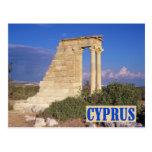 Postal de Chipre del templo de Apolo