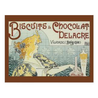 Postal de Chocolat Delacre de las galletas del anu