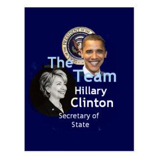 Postal de Clinton del equipo