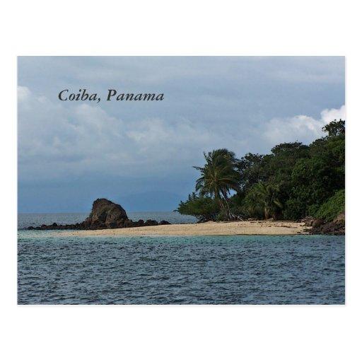 Postal de Coiba Panamá