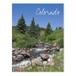 Postal de Colorado de la corriente de la montaña