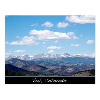 Postal de Colorado de las montañas de Vail