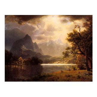 Postal de Colorado del parque de Bierstadt Estes