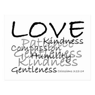 Postal de Colossians 3 del amor