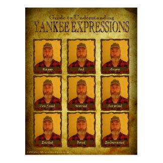 Postal de comprensión de las expresiones del yanqu