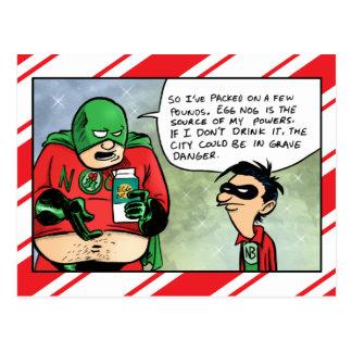 Postal de consumición del navidad de la yema del