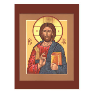 Postal de Cristo Pantocrator
