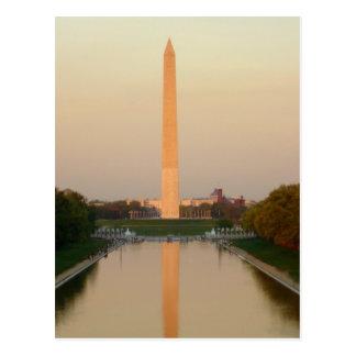 Postal de DC del monumento de Washington