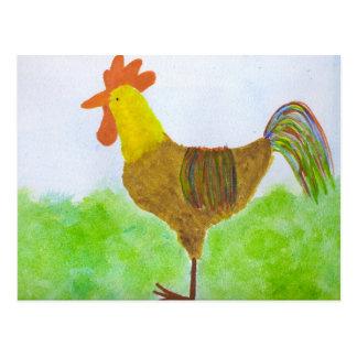 Postal de DeColores del ~ del gallo