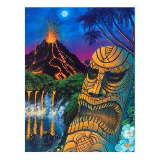 Postal de dios de Tiki