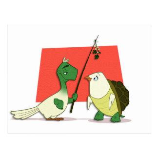 "Postal de ""dos palomas de la tortuga"""