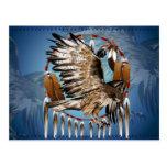 Postal de Dreamcatcher del halcón del vuelo
