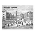 Postal de Dublín Irlanda del vintage de la calle d