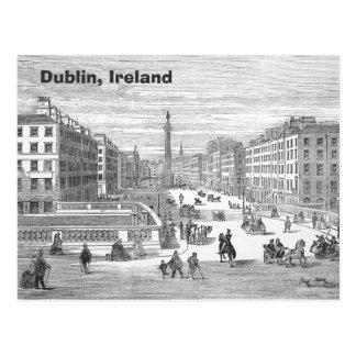 Postal de Dublín Irlanda del vintage de la calle