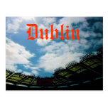 Postal de Dublín Irlanda Eire del estadio del parq