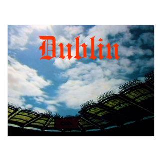Postal de Dublín Irlanda Eire del estadio del