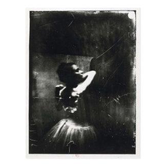 Postal de Edgar Degas con el bailarín de ballet