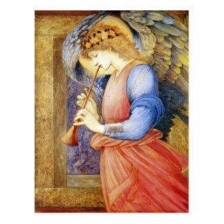 Postal de Edward Burne-Jones del ángel del navidad