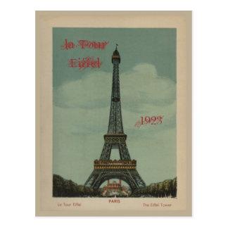 Postal de Eiffel del viaje del La