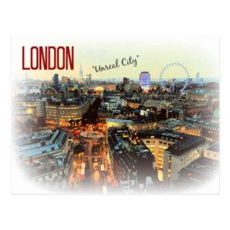 """Postal de Eliot de la """"ciudad irreal"""" de Londres"""