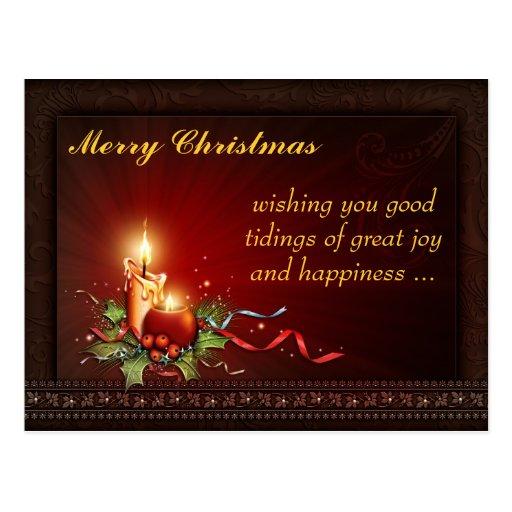 Postal de encargo de los sentimientos del navidad