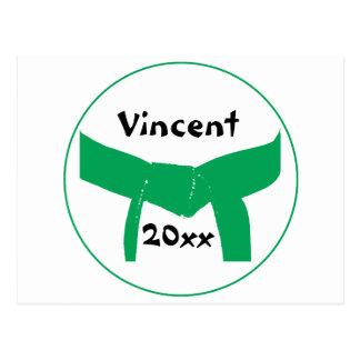 Postal de encargo del cinturón verde de los artes