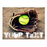 Postal de encargo del softball
