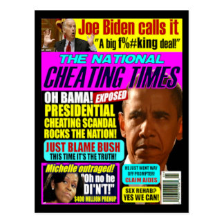 Postal de engaño de Obama