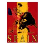 Postal de España con corrida del vintage