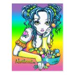 """Postal de Fae del arco iris del caramelo de """"Alish"""