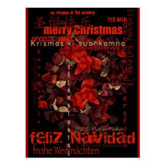 Postal de Feliz Navidad Joyeux Noel del navidad