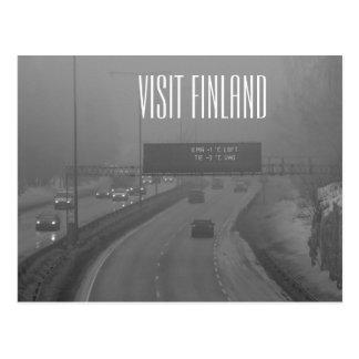 Postal de Finlandia de la visita