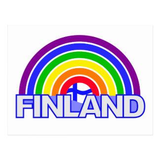 Postal de Finlandia del arco iris