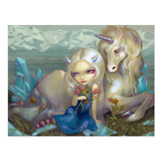 "Postal de ""Fiona y del unicornio"""