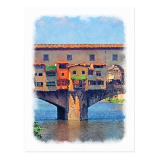 Postal de Florencia, Italia