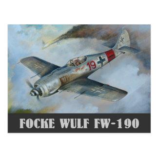 Postal de Focke Wulf FW-190