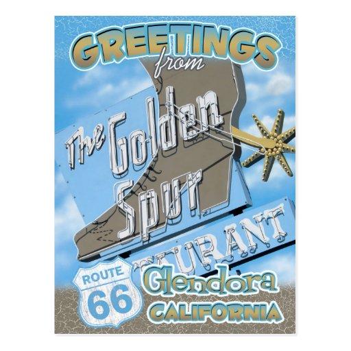 Postal de Glendora California de los saludos de la