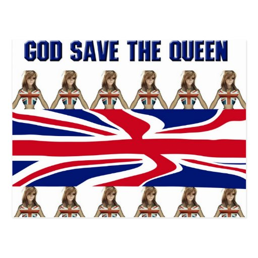 Postal de God Save the Queen