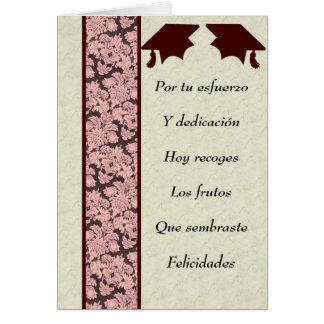 Postal de Graduacion Card
