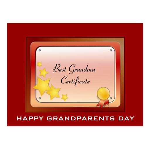 Postal de Grandma_Certificate (personalice)