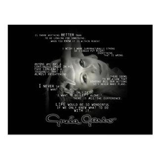 Postal de Greta Garbo
