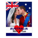 Postal de Guillermo y de Kate - de Australia