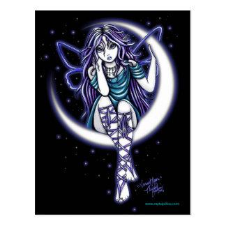 Postal de hadas celestial de la fantasía de la lun